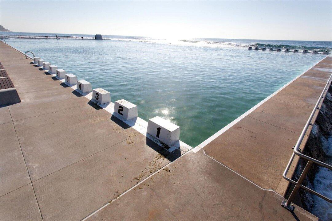 Salt water beach pool